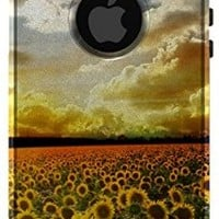 CUSTOM OtterBox Commuter Series Case for Apple iPhone 5 / 5S - Green Blue Yellow Sunflowers