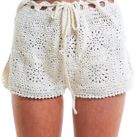 LUX CROCHET SHORTS