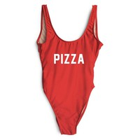 Pizza Red One Piece Bathing Suit