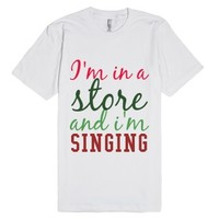 I'm Singing!-Unisex White T-Shirt