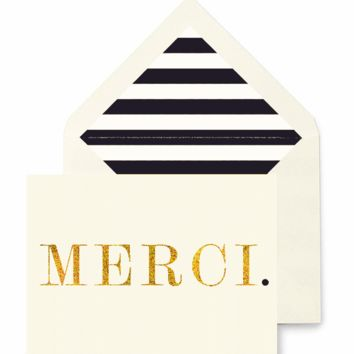 Merci. Greeting Card, Single Folded Card or Boxed Set of 8