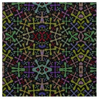 Colorful Abstract Patterns Fabric