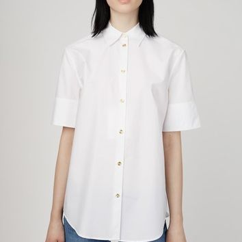 Acne Studios Addle Tech Poplin Short-Sleeve Shirt - WOMEN - JUST IN - Acne Studios