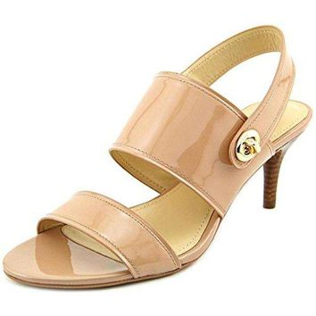 DCCKG2C Coach Women's Marla Patent Slingback Sandals Warm Blush
