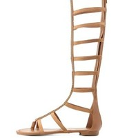 Dollhouse Embellished Knee-High Gladiator Sandals