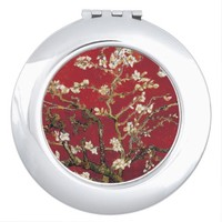 Almond Blossoms Red Vincent van Gogh Art Painting Mirrors For Makeup