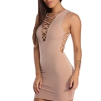 Natural Lattice Obsession Dress