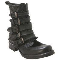 A.S.98 717279 Black Black Motorcycle Boot
