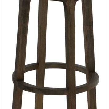 Patti Swivel Bar Stool, Natural Gray