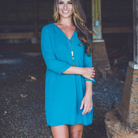 Easy Company Dress in Green