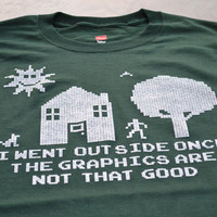Funny I went outside once addict gamer t shirt size by geekthings