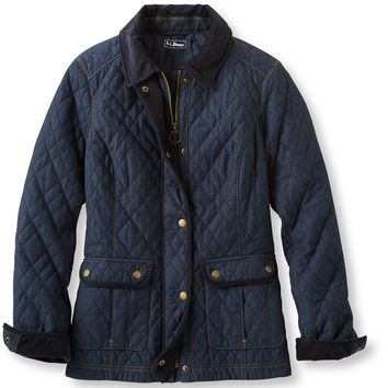Quilted Chambray Jacket