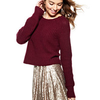 Sequin Skater Skirt - Bronze