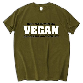 ebf364524f Don't ask me why I'm vegan funny cotton tee shirt