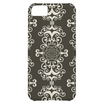 Floral rose damask swirl wallpaper pattern case iPhone 5C cases