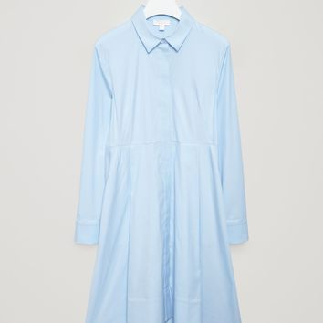 Flared shirt dress - Pale Blue - Dresses - COS US