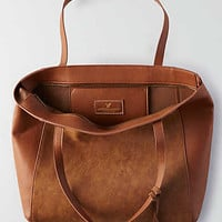 AEO Paneled Tassel Tote, Brown