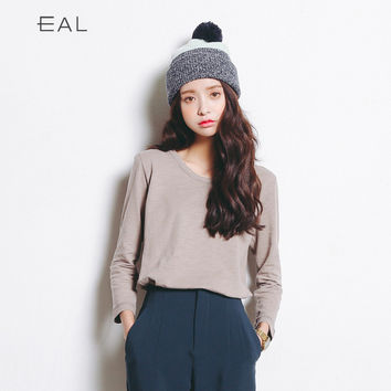 Autumn Korean Cotton Bottoming Shirt [9022917063]