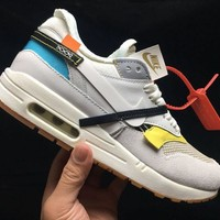 Nike Air Max 1 X Off-White White Running Shoes - Best Deal Online