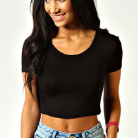 Nicola Short Sleeve Crop Top