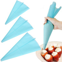 Silicone Icing Piping Cream Pastry Bag Cake DIY Decorating Tool kitchen cake tools
