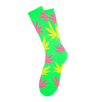 HUF - NEON PLANTLIFE SOCKS HOL14 // GREEN