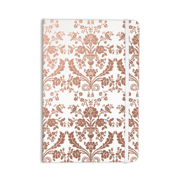 "KESS Original ""Baroque Rose Gold"" Abstract Floral Everything Notebook"