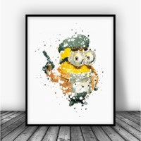 Minion Dave Despicable Me Art Print Poster