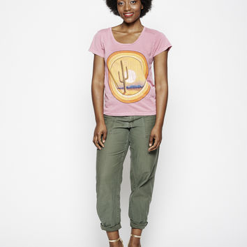 Desert Sunset Women's Crew - Rose