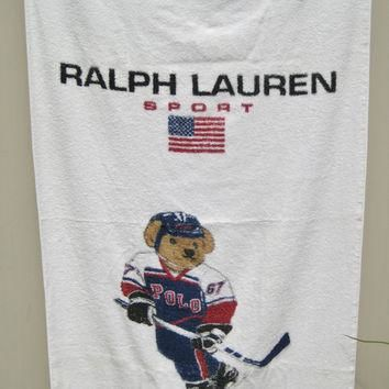 Ralph Lauren Polo Bear Beach Towel Ralph Lauren Sport USA Hockey Bear Polo Bear Hockey