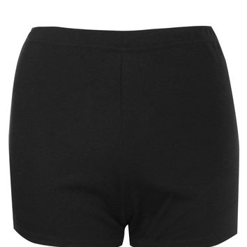 Hollie High Waist Ponte Knicker Shorts | Boohoo