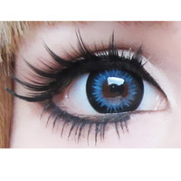GEO Bella xTRA Blue Circle Lens Cosmetic Big Eye Colored Contacts Lenses | EyeCandy's