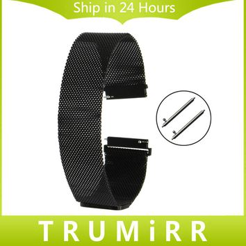 Milanese Watch Band Stainless Steel Magnetic Strap for Fossil Q Accomplice Tailor Gazer Founder Wander Crewmaster Grant Marshal
