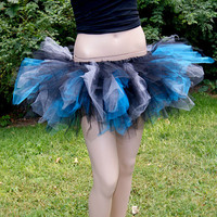 Grey Blue Black Burtons Cheshire Cat Alice Wonderland Trashy TuTu All Sizes MTCoffinz
