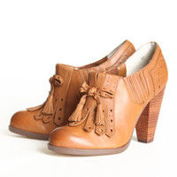 Seychelles Clue oxford heels in whiskey - $129.99 : ShopRuche.com, Vintage Inspired Clothing, Affordable Clothes, Eco friendly Fashion