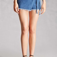 Frayed Denim Skort