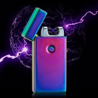 Cross Double Arc Windproof USB Lighter