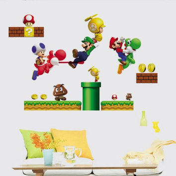 Super Mario Game Nintendo Wall Sticker and Decal -wall decals -w 8ca3b678e