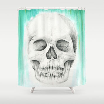 FALL WITH WATER Shower Curtain by Sarah Sheehan