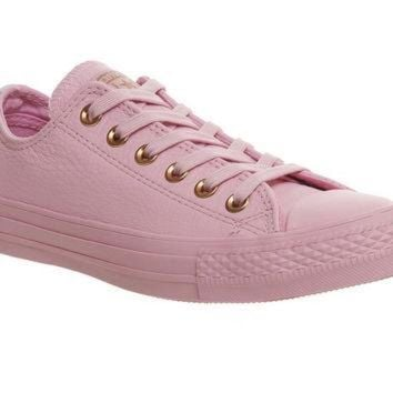DCKL9 Converse All Star Low Leather Trainers Lilac Mouse Exclusive - Hers trainers