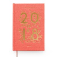 2018 Rifle Paper Co. Coral 12-Month Agenda and Planner