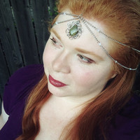 Custom Boho Chain Headpiece with Wirewrapped Jewelry - Wire Boho Jewelry, Elven Circlet, Great for Princess Costume, or Fairy Costume,