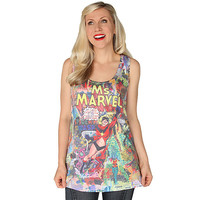 Ms. Marvel Ladies' Tank Top - Black,