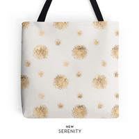 Tote Bag, Faux Rose Gold Dots, Sandy Tote, Chic Tote, Printed Tote, Custom Tote, Work Tote, Womens Tote Bag, Gift for Her, NewSerenityStudio