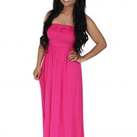Lost In You Hot Pink Maxi Dress | Monday Dress Boutique