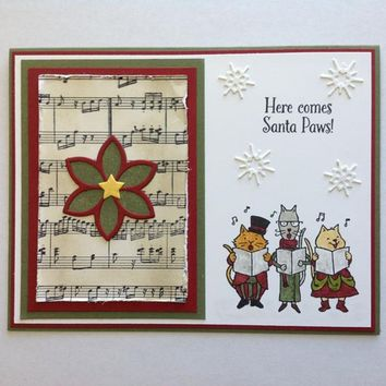 InLoveArts 6Pcs/lot 14*14cm New Decorative Clear Stamps For Scrapbooking Card Album Letter Merry Christmas Santa Paws Stampin Up