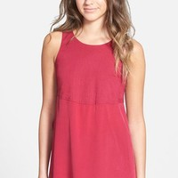 Madewell Paneled Silk and Cotton Tank | Nordstrom