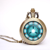 Iron man Heart Arc reactor pocket watch
