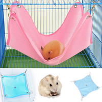 2016 New S M Size Dot Cage Hammock Bed Net Cloth House Cage Hanging Hammock Mat Rat Ferret Hamster Mouse