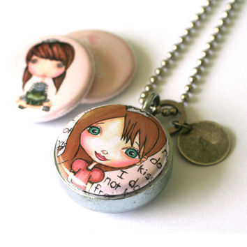 Princess Locket Necklace